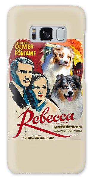 Australian Shepherd Art - Rebecca Movie Poster Galaxy Case