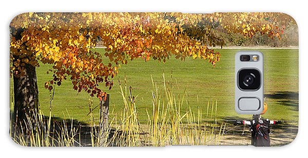 Autumn At The Schoolground Galaxy Case by Mick Anderson
