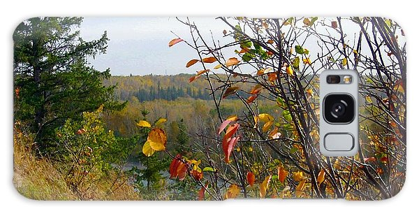 Autumn By The River Galaxy Case by Jim Sauchyn