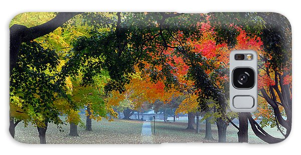 Autumn Canopy Galaxy Case by Lisa Phillips