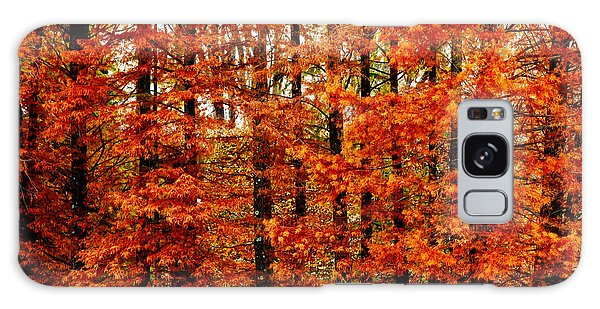 Autumn Red Maple Landscape Galaxy Case