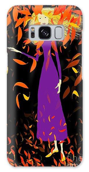 Autumn Spirit Galaxy Case by Barbara Moignard