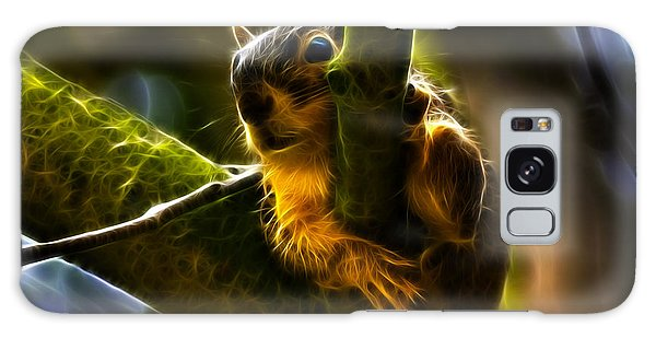Awww Shucks- Fractal - Robbie The Squirrel Galaxy Case