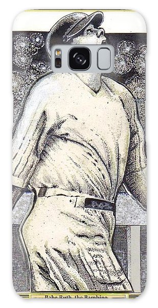 Babe Ruth Hits One Out Of The Park  Galaxy Case