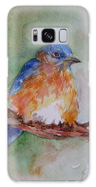 Baby Blue Bird Galaxy Case by Gloria Turner