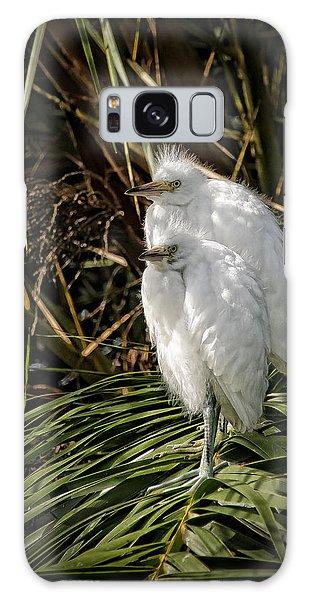 Baby Egrets Galaxy Case