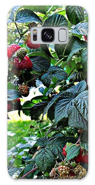 Backyard Berries Galaxy Case