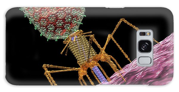 Galaxy Case featuring the digital art Bacteriophage T4 Injecting by Russell Kightley