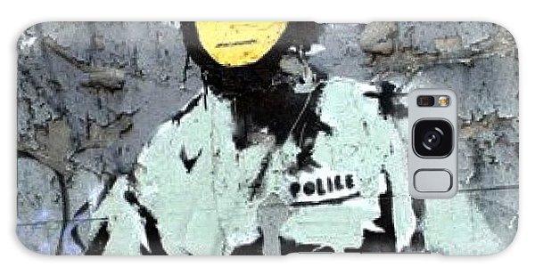 Design Galaxy Case - #banksy #stencil #streetart #police by A Rey