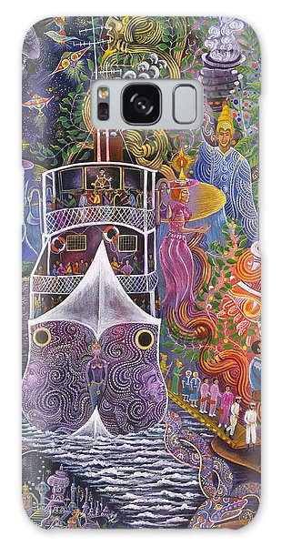Galaxy Case featuring the painting Barco Fantasma by Pablo Amaringo