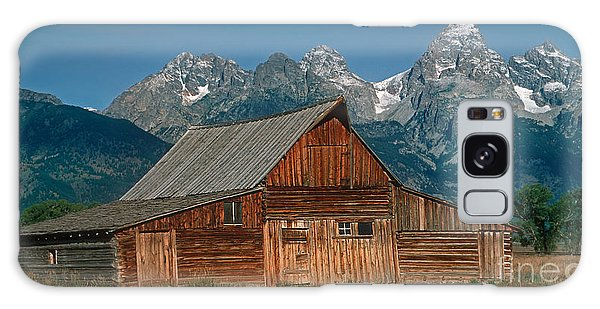 Barn And Tetons Galaxy Case by Jerry Fornarotto