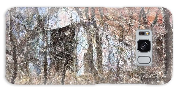 Barn Through Trees Galaxy Case