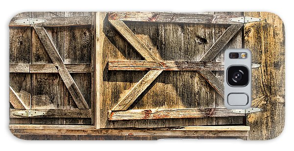Barn Wood Texture Galaxy Case by Joanne Coyle