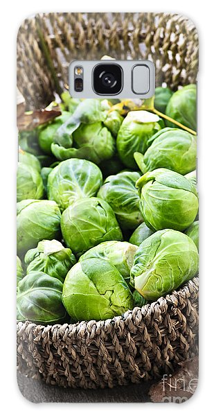 Basket Of Brussels Sprouts Galaxy Case
