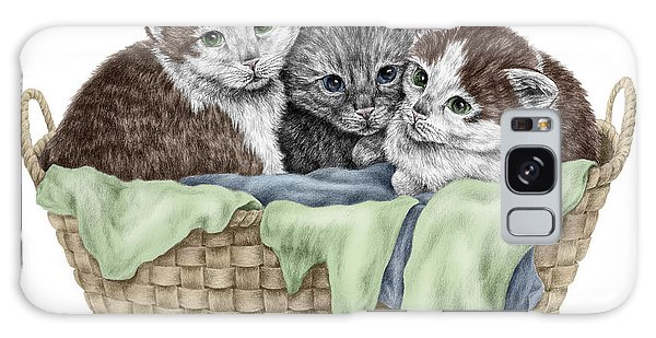 Basket Of Kittens - Cats Art Print Color Tinted Galaxy Case