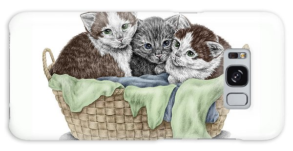 Basket Of Kittens - Cats Art Print Color Tinted Galaxy Case by Kelli Swan