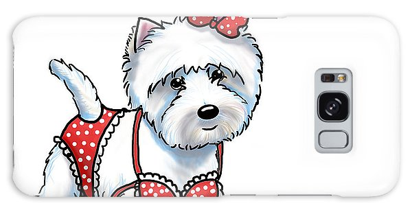 Beach Babe Westie Galaxy Case