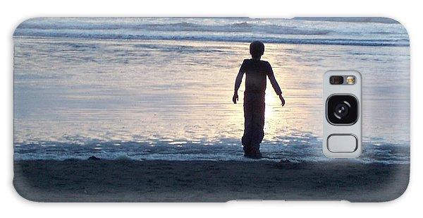 Beach Boy Silhouette Galaxy Case by Peter Mooyman