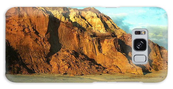 Beach Cliff At Sunset Galaxy Case