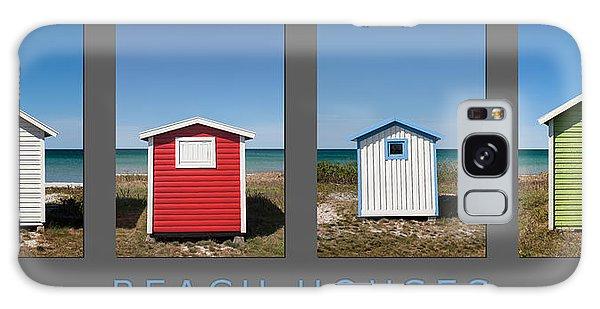 Beach Houses Galaxy Case by Stefan Nielsen