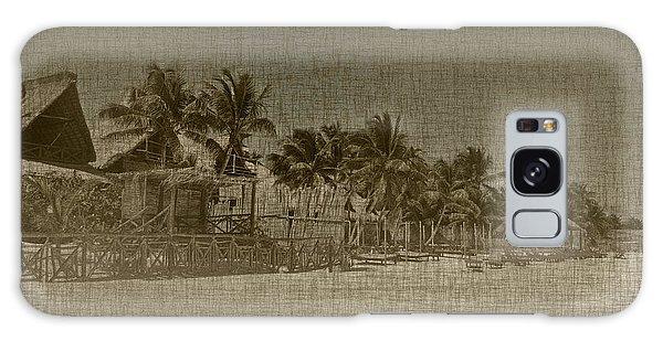 Beach Huts In A Tropical Paradise Galaxy Case
