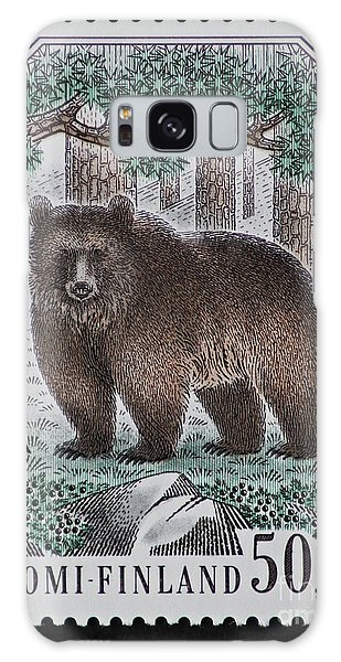 Bear Vintage Postage Stamp Print Galaxy Case