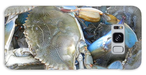 Beaufort Blue Crabs Galaxy Case by Patricia Greer