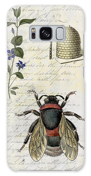Bee Flower Hive  Galaxy Case