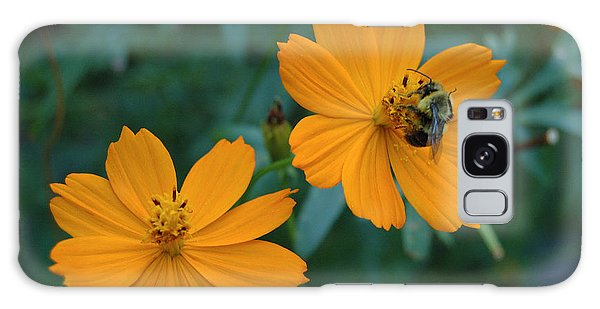 Bee On Cosmos Flower  Galaxy Case