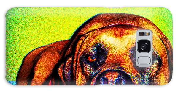 Galaxy Case featuring the photograph Beefy Girl In Bright Colors by Kelly Hazel