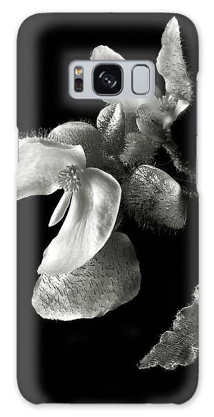 Begonia In Black And White Galaxy Case