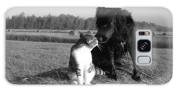 Best Buddies Black And White Galaxy Case by Kent Lorentzen
