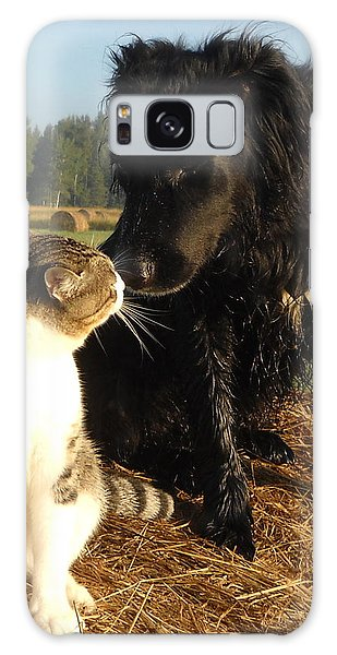 Best Buddies Portrait Galaxy Case by Kent Lorentzen