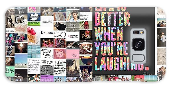 Better To Laugh Galaxy Case by Holley Jacobs