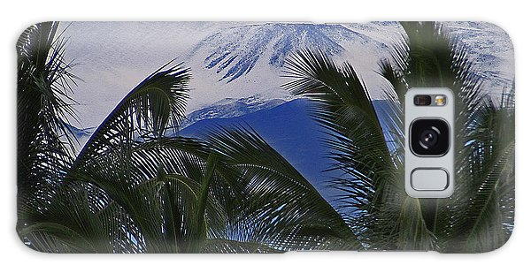 Big Island Palms And Snow Galaxy Case