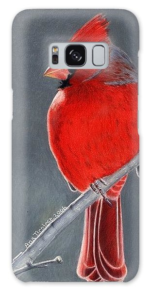 Big Red Northern Cardinal Galaxy Case