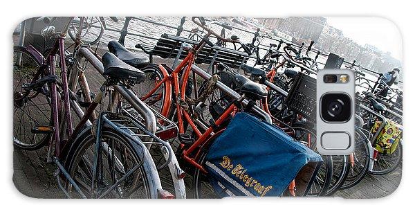 Bikes In Amsterdam Galaxy Case by Carol Ailles