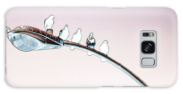 Birds On A Streetlight Galaxy Case