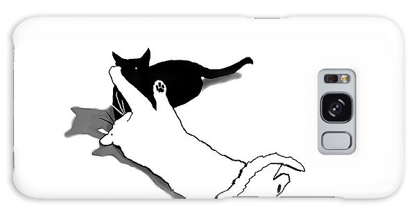 Black And White Cats Galaxy Case