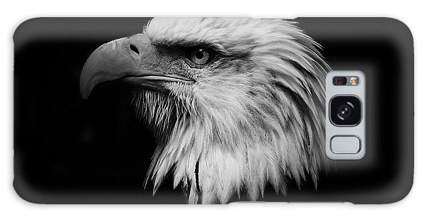 Black And White Eagle Galaxy Case by Steve McKinzie