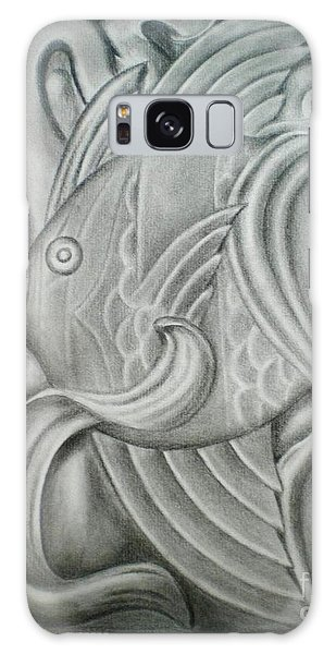 Black And White Fish Galaxy Case