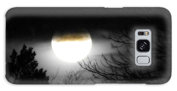 Black And White Full Moon Galaxy Case by Michelle Frizzell-Thompson