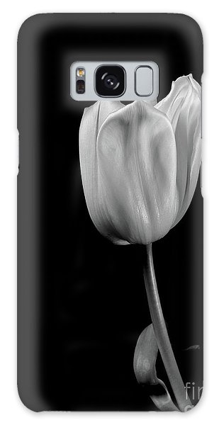 Black And White Tulip Galaxy Case