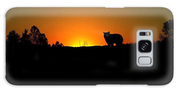 Black Bear Sunset Galaxy Case
