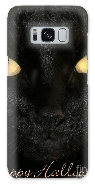 Black Cat Halloween Card Galaxy Case