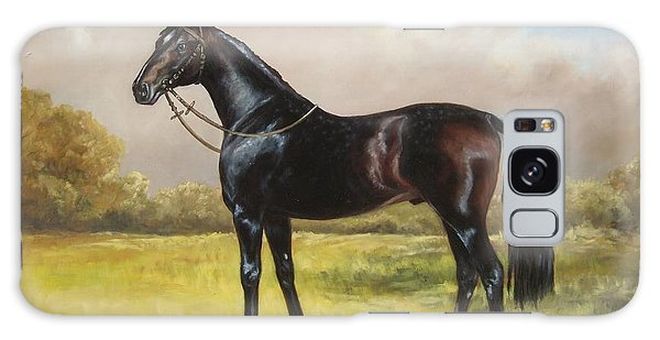 Black English Horse Galaxy Case