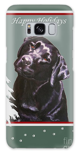 Black Labrador Portrait Christmas Galaxy Case