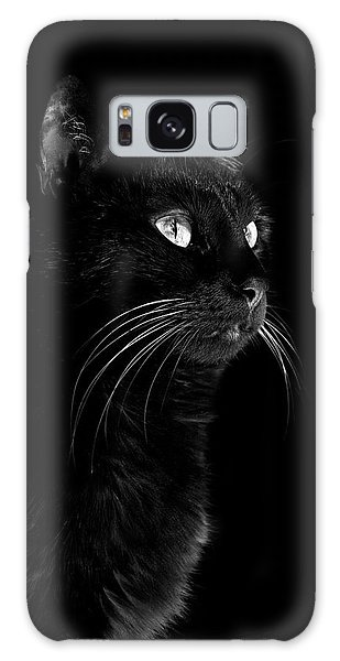 Black Portrait Galaxy Case by Raffaella Lunelli