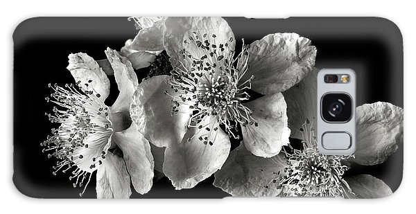 Blackberry Flowers In Black And White Galaxy Case