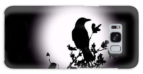 Blackbird In Silhouette  Galaxy Case by David Dehner
